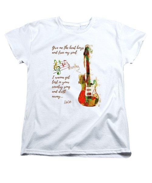 Women's T-Shirt (Standard Cut) featuring the digital art Drift Away Country by Nikki Marie Smith