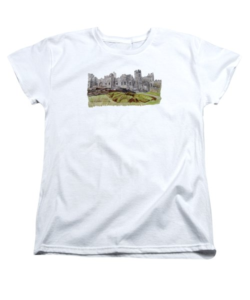 Castle Ward Women's T-Shirt (Standard Cut) by Angeles M Pomata