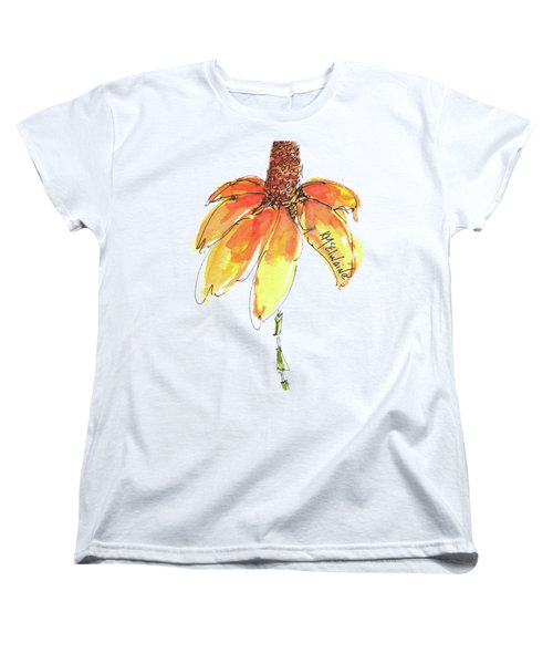 Made For Order Cone Sunflower Women's T-Shirt (Standard Cut) by Kathleen McElwaine