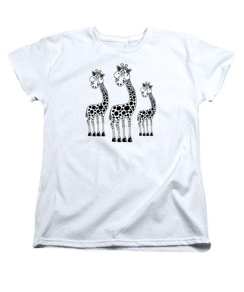 Fudge The Giraffe Women's T-Shirt (Standard Cut) by Lucia Stewart