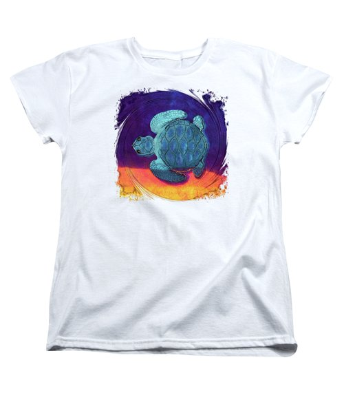 Sea Surfing Women's T-Shirt (Standard Cut) by Di Designs