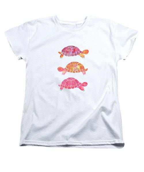Turtles Women's T-Shirt (Standard Cut) by Laura Vitali