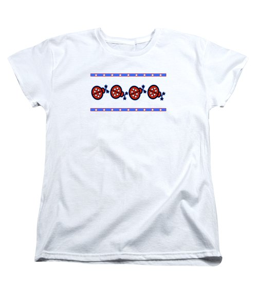 Women's T-Shirt (Standard Cut) featuring the digital art Star-spangled Lady Bugs by Methune Hively
