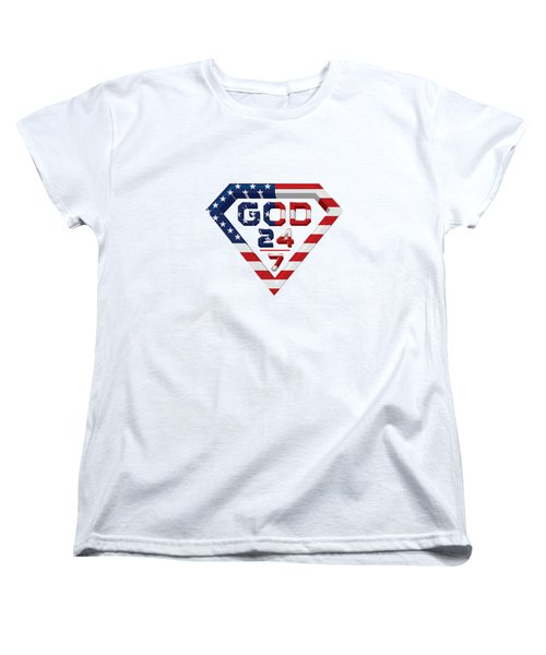 3 D Patriotic Design Women's T-Shirt (Standard Cut) by Roshanda Prior