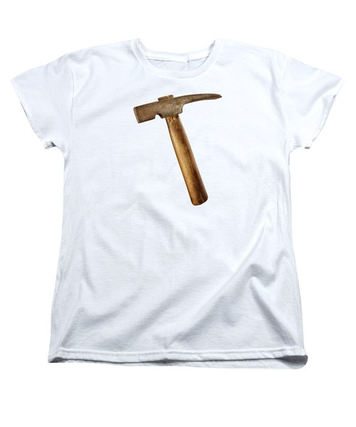 Antique Plumb Masonry Hammer On Color Paper Women's T-Shirt (Standard Fit)