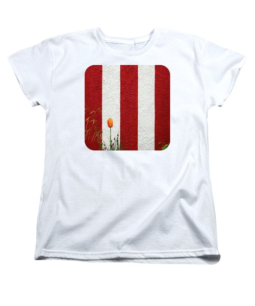 Women's T-Shirt (Standard Cut) featuring the photograph Temple Wall by Ethna Gillespie