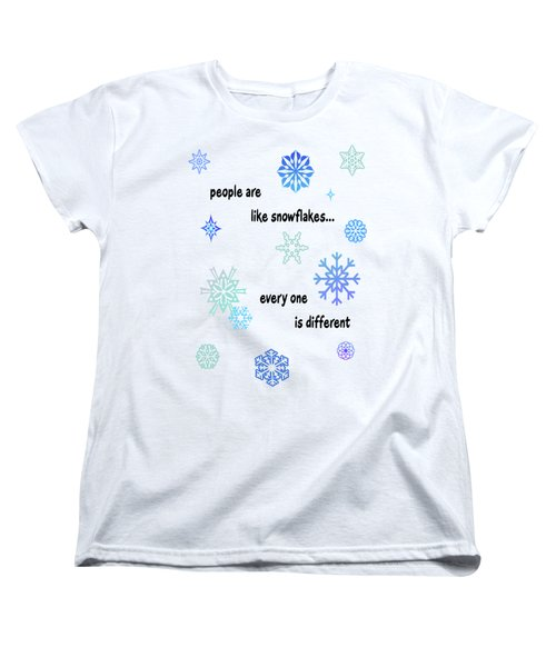 Snowflakes 3 Women's T-Shirt (Standard Cut) by Methune Hively
