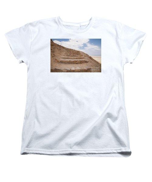 Women's T-Shirt (Standard Cut) featuring the photograph Stairway To Heaven - Masada, Judean Desert, Israel by Yoel Koskas