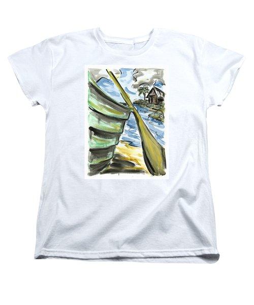 Women's T-Shirt (Standard Cut) featuring the painting Ashore by Robert Joyner