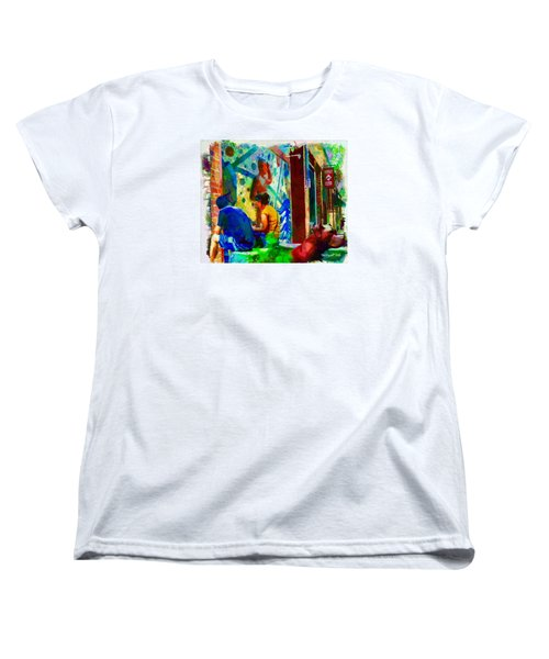 Ashville Art District Women's T-Shirt (Standard Cut) by Ted Azriel
