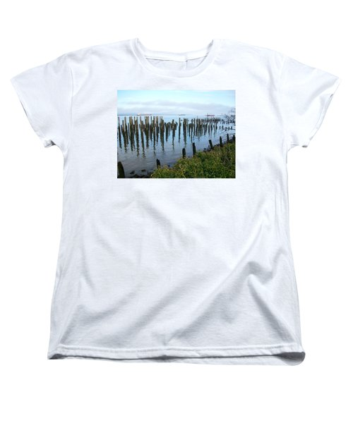 Astoria Ships  Women's T-Shirt (Standard Cut) by Quin Sweetman