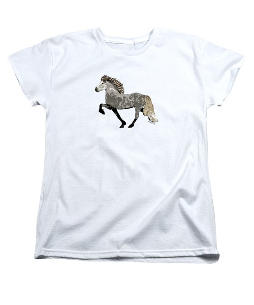 Women's T-Shirt (Standard Cut) featuring the painting Astrid by Shari Nees