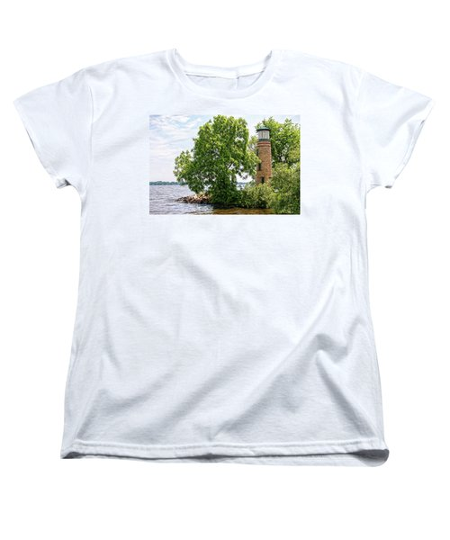 Asylum Point Lighthouse 1 Women's T-Shirt (Standard Cut) by Trey Foerster