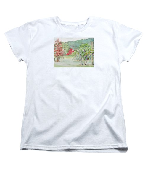 At The Winery Women's T-Shirt (Standard Cut) by Christine Lathrop