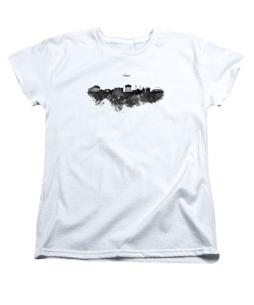 Athens Black And White Skyline Women's T-Shirt (Standard Cut)