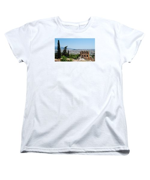 Women's T-Shirt (Standard Cut) featuring the photograph Athens From Acropolis by Robert Moss