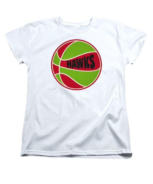 Women's T-Shirt (Standard Cut) featuring the photograph Atlanta Hawks Retro Shirt by Joe Hamilton