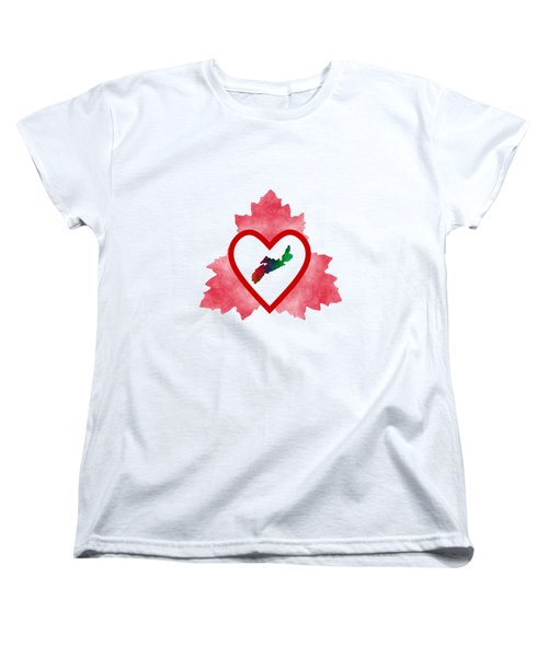 Atlantic Canada Women's T-Shirt (Standard Cut) by Kathleen Sartoris