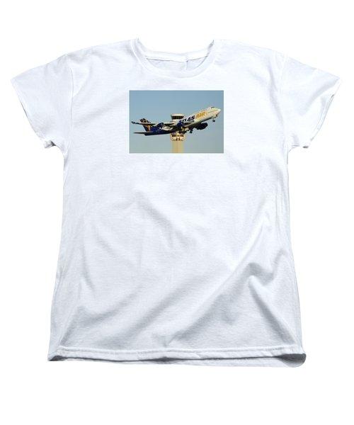 Atlas Boeing 747-446 N465mc Phoenix Sky Harbor January 3 2015 Women's T-Shirt (Standard Cut) by Brian Lockett