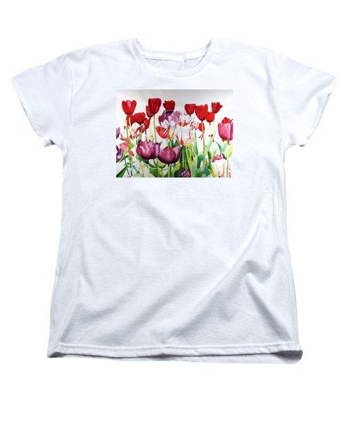 Attention Women's T-Shirt (Standard Cut) by Elizabeth Carr