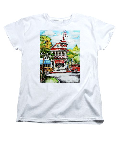 Women's T-Shirt (Standard Cut) featuring the painting Auburn Historical by Terry Banderas