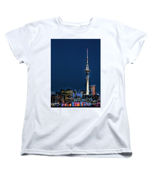 Auckland Skytower Women's T-Shirt (Standard Cut) by Karen Lewis