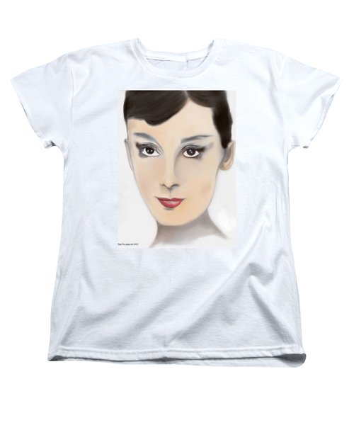 Audrey Hepburn Color Women's T-Shirt (Standard Cut) by Dan Twyman