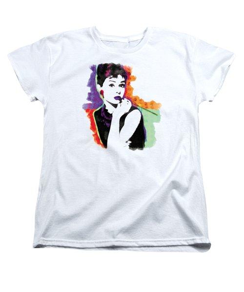 Audrey Hepburn Pop-art Women's T-Shirt (Standard Cut) by Magdalena Raszewska