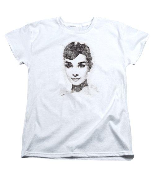 Audrey Hepburn Portrait 02 Women's T-Shirt (Standard Cut) by Pablo Romero