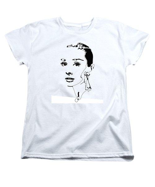 Audrey Hepburn Women's T-Shirt (Standard Cut) by Rabi Khan