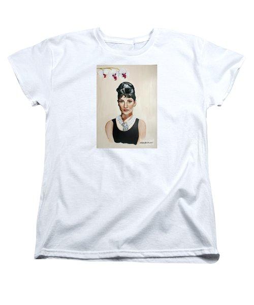 Audrey Hepburn Women's T-Shirt (Standard Cut) by Shelley Overton