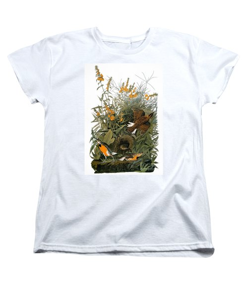 Audubon: Meadowlark Women's T-Shirt (Standard Cut) by Granger
