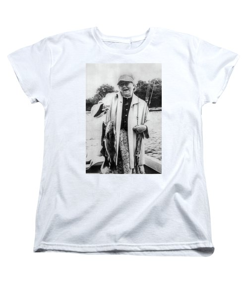 Aunt Grace Fishing Women's T-Shirt (Standard Cut) by Paul Seymour