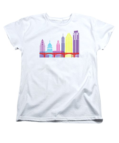 Austin Skyline Pop Women's T-Shirt (Standard Cut) by Pablo Romero