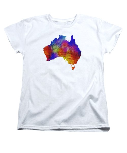 Australia And Sydney Harbour Bridge By Kaye Menner Women's T-Shirt (Standard Cut) by Kaye Menner