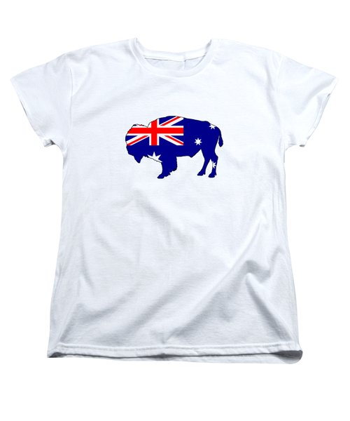 Australian Flag - Bison Women's T-Shirt (Standard Cut) by Mordax Furittus