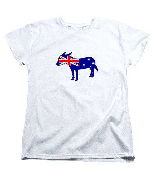 Australian Flag - Donkey Women's T-Shirt (Standard Cut) by Mordax Furittus