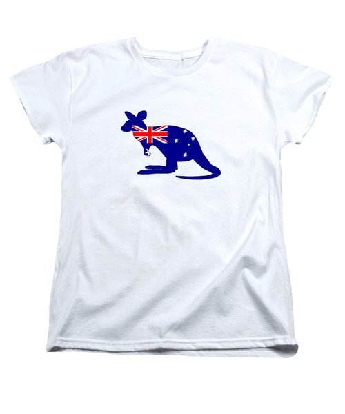 Australian Flag - Kangaroo Women's T-Shirt (Standard Cut) by Mordax Furittus