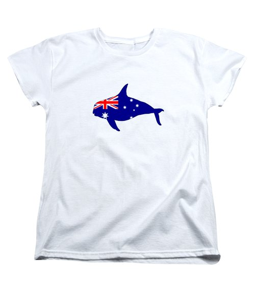 Australian Flag - Killer Whale / Grampus / Orca Women's T-Shirt (Standard Cut) by Mordax Furittus