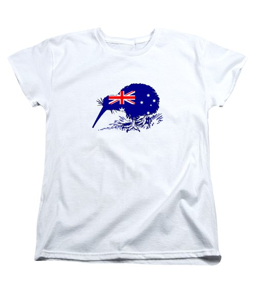 Australian Flag - Kiwi Bird Women's T-Shirt (Standard Cut) by Mordax Furittus