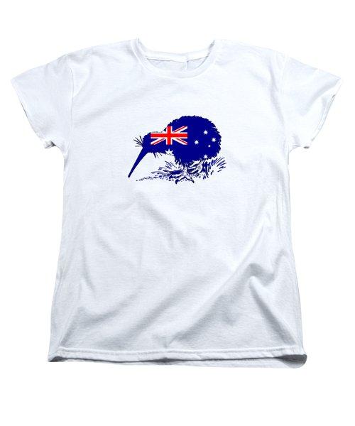 Australian Flag - Kiwi Bird Women's T-Shirt (Standard Cut) by Mordax Furittus