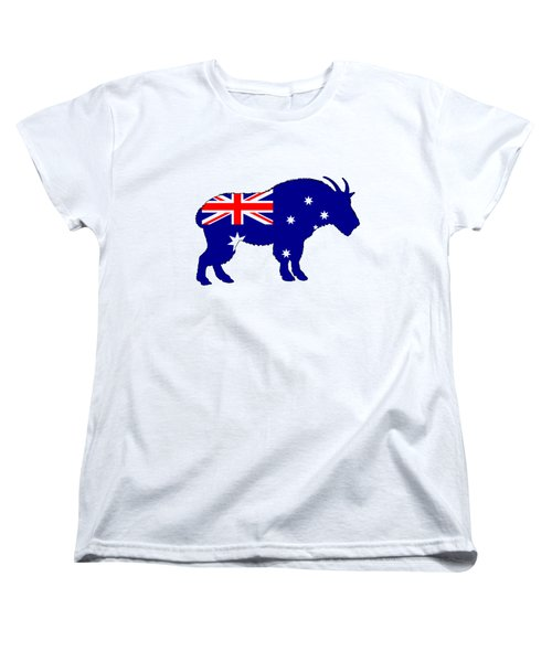 Australian Flag - Mountain Goat Women's T-Shirt (Standard Cut) by Mordax Furittus