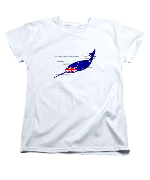 Australian Flag - Narwhal Women's T-Shirt (Standard Cut) by Mordax Furittus