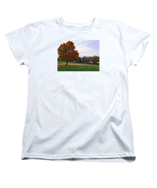 Autumn At Stirling Bridge Women's T-Shirt (Standard Cut) by RKAB Works