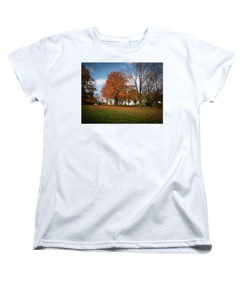 Women's T-Shirt (Standard Cut) featuring the photograph Autumn Bliss by Kimberly Mackowski