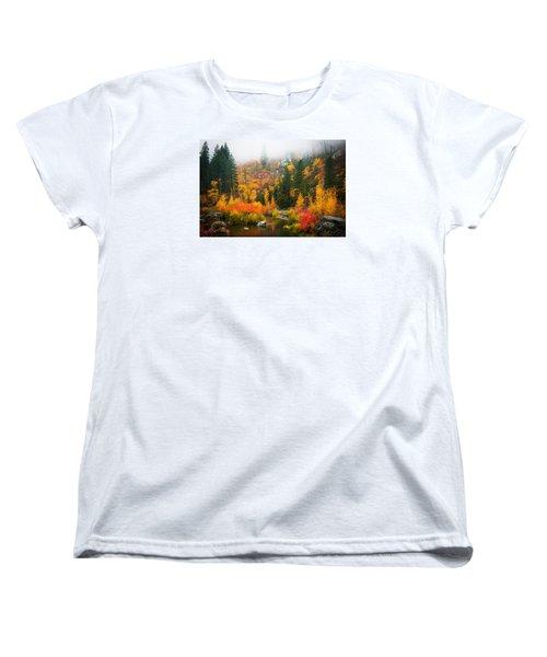 Women's T-Shirt (Standard Cut) featuring the photograph Autumn Colors Symphony by Dan Mihai