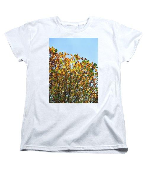 Autumn Flames - Original Women's T-Shirt (Standard Cut) by Rebecca Harman