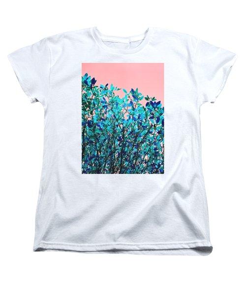 Autumn Flames - Peach Women's T-Shirt (Standard Cut) by Rebecca Harman