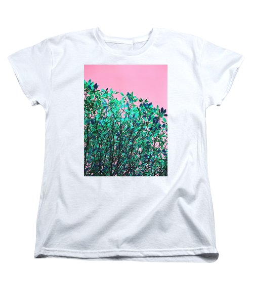 Autumn Flames - Pink Women's T-Shirt (Standard Cut) by Rebecca Harman