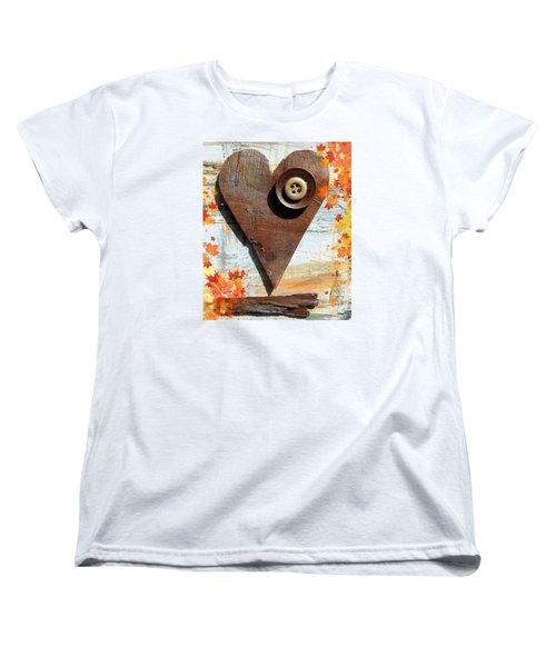 Autumn Heart Women's T-Shirt (Standard Cut) by France Laliberte